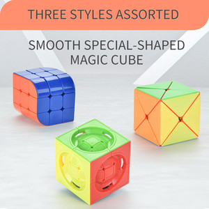 Truhedral Cubo de Rubik Diy Rubik's Cubo Puzzle Smooth-shaped Magic Magic Cube Atualizado Desafio Tw2009165