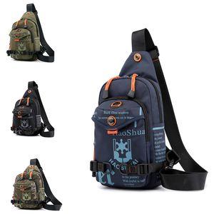 Men Chest Bag Nylon Crossbody Bag Rucksack Knapsack Travel Casual Male One Shoulder Bags Sling Handbag Bags for Men