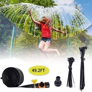 Accessori per il trampolino Waterpark Sprinkler Best Outdoor Summer Giocattoli da estate per bambini fuori combattimento di salto trampolini irrigazione1