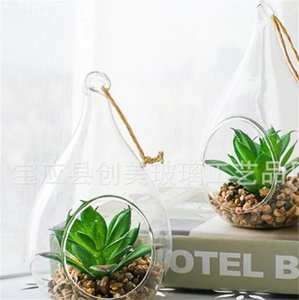 Family Office Transparent Drop Ball Succulent Plants Glass Hanging Bottle Ornament High Borosilicate Glass Container New Arrival 2 5cm J2