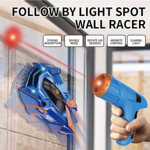 أطفال RC سيارة لعبة الهواء خنزير صفر الجاذبية الليزر المتسابق تسلق الجدار سيارة، التحكم عن بعد الملحقات جدار تسلق سباق السيارات