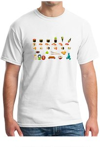 Men's Donuts Sweets Soft Fitted Print Pure Cotton Comfort Short Sleeve Crew Neck T-Shirts Man Fashion Casual Sportswear