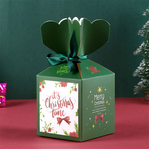 Merry Christmas Box Cajas de papel Nuevo Creativo Dibujos animados Nochebuena Caja de regalo Spot Safe Fruit Packaging Box HHE2827