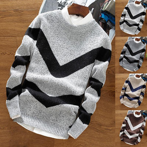 Mens Sweater Casual fashion mens clothes pullover sweater mens clothing camel beige knitted sweater clothes casual style