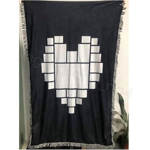 Sublimation blanks Blanket Plaid with Tassels 9 15 20 Grids Mat Heat Transfer Printing Sofa Throw home outdoor Blankets sea ship CYF4591