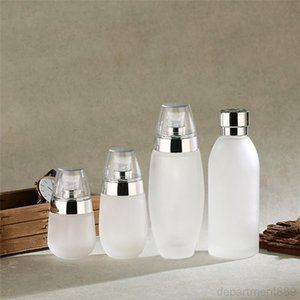 30ml 50ml 100ml Frosted Glass Bottle Refillable Cream Jars Empty Cosmetic Containers Portable Lotion Pump Bottles for Travel DHD1561