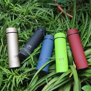 Free ship! In Stock 500 ml Travel Mug Stainless Steel Tea Infuser Bottle life Portable Water Bottle with Strainer Coffee Tumbler