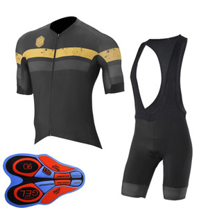 Capo Team 2019 Hommes Été Vêtements de vélo Kits à manches courtes Shorts de bretelles à manches courtes costume Mens Vélo respirant Uniforme Tenue de vélo Y102607