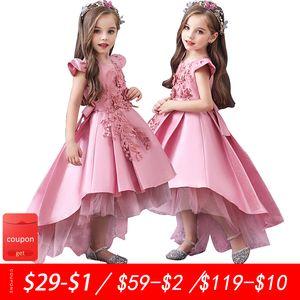 Children's wedding fluffy flower girl piano costumes trailing girls dress host catwalk princess dress 3-12 years F1202