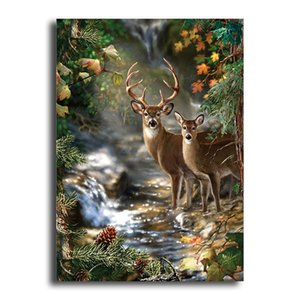 Full Picture drill 5D diamond painting DIY diamond embroidery forest two deer Stitch Rhinestone mosaic decoration YSD