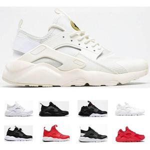 Ultra Huaarache 1 .0 4 .0 мужчин женщин беговые туфли тройной черный whit красные huaraches плоский тренер мужские бегуны спортивные тапки размером 36 -45