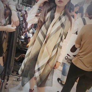 Klassisches vielseitiges koreanisches Easttor Baba Plaid Schal Damen Mode Gradient Baumwolle Leinenschal Micro Factory Sales