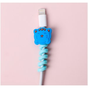 Mohamm 1pc Cartoon Spiral Usb Protector Charging Cable Saver Silicone Bobbin Winder For Cell Phone F jllWxi bdefight