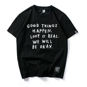 Männer T-Shirts 2021 Mode Hip Hop T-shirt Männer Frauen Harajuku Brief Drucken T-Shirts Tops1