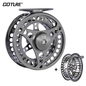 Goture Fly Fishing Reel 3 4 5 6 7 8 9 10 2+1BB Max Drag 8kg Lightweight CNC-machined Large Arbor Left Right Fly Reel+Spare Spool Z1128