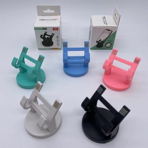 Universal Desktop Phone Holder Stand 360 Degree Rotation Base Plastic Nonslip Car Mount Phone Holder Bracket with Retail Box