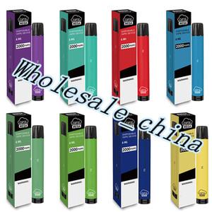 Authentic Airis Mega Dispositivo de cigarrillos E-Cigarettes E-Cigarets 2000Puff 1050mAh 6ml PRELENDIDO PORTABLE VAPE STICK PENS BAR XXL PLUS 12 COLORES
