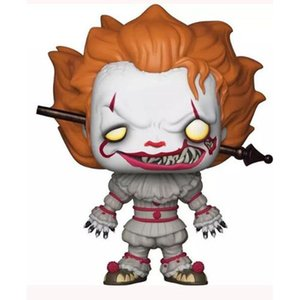 FUNKO POP Clown Back to the Soul Hand Office Aberdeen Model IT Decoration Toy Pennywise Wearing Front Page