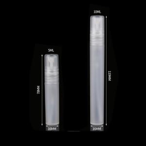 Transparente vacía botellas de pulverización de plástico vacío 2ml 3ml 5 ml 10 ml botella de perfume atomizador 5cc reclinable espiral espiral espiral contenedor 163 g2