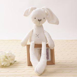 Милый кролик кукла детские мягкие плюшевые игрушки для детей кролика спать приятель фаршированные плюшевые животные детские игрушки для младенцев