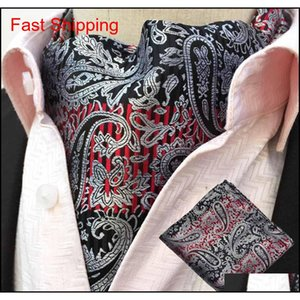 Men Formal Business Paisley Flowers Cravat Ascot Necktie Hanky Pocket S qylxWO bdefashion