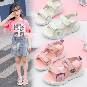 summer 2020 new sports Girls' sandals soft sol antiskid middle school and big children's Princs boys' sho