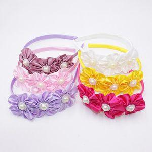 Cute Flowers Girl Hairband Fashion Pearls Floral Hair Band Kid Sweet Birthday Gift Headband Hair Bands Accessories