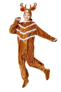 Men Women Christmas Elk Cosplay Mascot Costume Christmas Hot Sale Tracksuit Christmas Costumes Party Cosplay Unisex Hot Sale