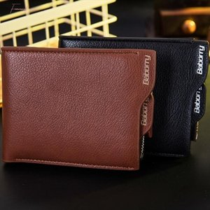 Vente Hot New Arrival Rfid Theft Protection Monnaie Zipper Portefeuilles d'homme Portefeuilles Sacs à main pour les hommes avec IRF carte bourse d'affaires