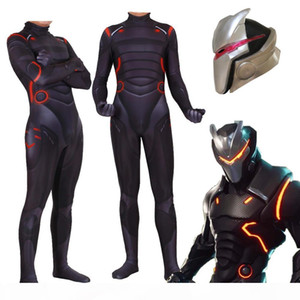 Adult Kids Game Cosplay Costume Omega Oblivion Link Zentai Bodysuit Suit Jumpsuits Led Mask Halloween SH190708