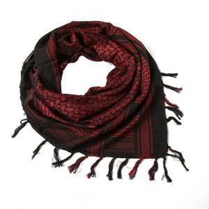 Arab men's square scarf tactical scarf outdoor warm and windproof turban cotton thick trend big square scarf