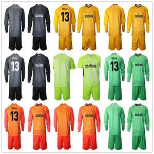 Manica lunga 2020 2021 Uomini Adan Oblak Portiere Piantine di calcio Set di calcio # 13 Jan Oblak # 1 Adan Kid Boy Portiere per bambini Uniforme