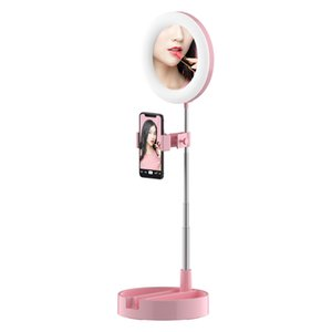 Factory Direct Desktop Makeup LED Ring Fill Light Folding Stand Mobile Phone Holders