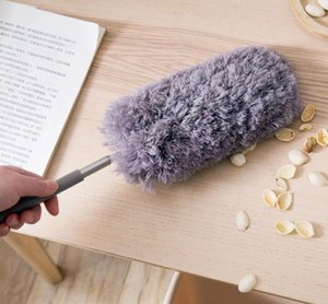Retractable, detachable, dust removal, long handle, dust cart, feather duster with cleaning duster for household superfine fiber