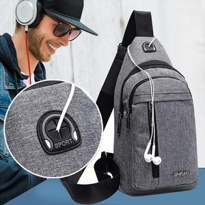 Newly Men Fashion Casual Small Bag Wild Versatile Messenger Bag Fashion One Shoulder Plaid Chest Soft Handle Oval 50