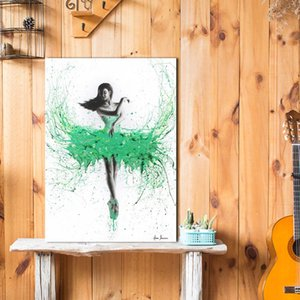 Girl Ballet Oil Painting Art Poster HD Canvas Print Home Decoration Living Room Bedroom Wall Stickers Art Picture HD Canvas