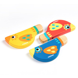 Mideer Baby Wooden Whistle Bird Whistling Toy Multiple Colour Children Educational Learning Musical Toys
