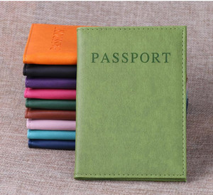 10 Colors Passport Holder Immitation PU Leather Women Men Travel Passport Cover Card Case Holder free shipping