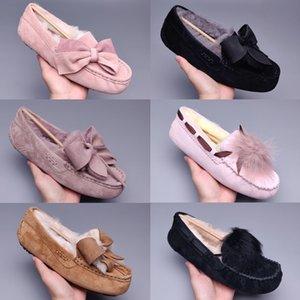 2021 Classique Pom Casual Shoes Casual Short II Bailey Bow Australie Pantoufles Femmes Sude Femmes Boot Hiver Snow Bottes Fourrure Furry Australien Bo M86n #