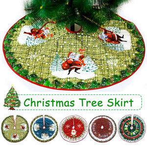 Christmas Tree Skirt Colorful Non-Woven Fabric Christmas Tree Ornaments Dress Round Skirt Home Festive Decorations