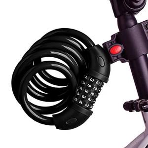 Evrensel Bisiklet Kilidi Elektrikli Araba Beş Haneli Kombinasyon Kilidi Dağ Bisikleti Şerit Çelik Gezgin Kilidi Anti-Hırsızlık Bisiklet Armatürü