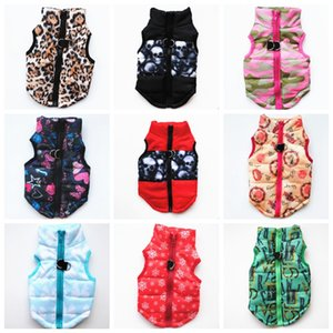 Winter Dog Clothes Windproof Pet Dog Coat Warm Padded Puppy Vest Small Dog Outfits Dogs Supplies 15 Designs 10pcs LQPYW1130