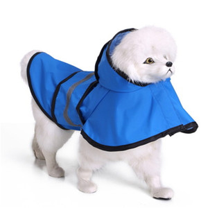 Windbreak High Quality Pets Raincoat Small And Large Dogs Quick Drying Poncho Reflective Light Cloak Water Proof 29mq H1