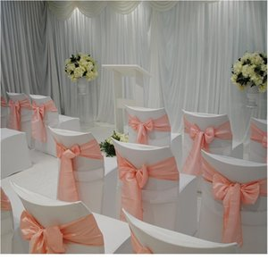 1pc Top Satin Fabric Chair Sashes Wedding Chair Knot Cover Decoration Chairs Bow Ties For Wedding Banquet Party Eve jllRGm