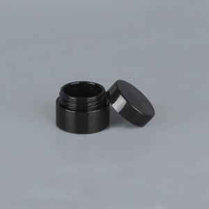 Black пустые 5 грамм 5 мл пластиковый горшок банка банок косметический образец пустой контейнер винтовая крышка крышки для макияжа глаз тени ногтей порошок RRD3053
