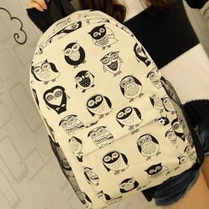뜨거운 새 올빼미 치열한 호랑이 턱수염 캔버스 어깨 가방 학생 가방 남성과 여성 캐주얼 가방 한 Banchao
