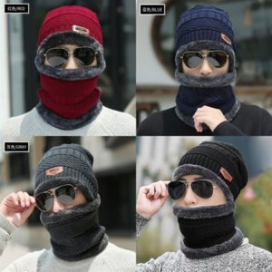deOj Acne Studios Wool face Outdoor sports knitted Skull Cap Beanie hat unisexs knitted Cashmere Eye Warm Couple Smiling Acne Hats Tide Stre