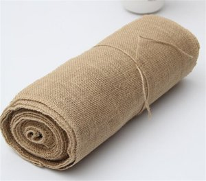 30cm*10M Table Flag Linen Roll True Colors Chair Back Wedding Celebration Decorate Tablecloth Hessian Burlap New 32tn M2