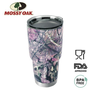MOSSY OAK 880ML Double Wall Vacuum Insulated Coffee Cup Stainless Steel Camo Tumbler Travel Mug for Cold & Hot Drinks 201204