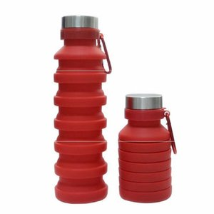 550 ملليلتر 19 أوقية المحمولة قابل للسحب سيليكون زجاجة مياه قابلة للطي قابلة للطي زجاجة مياه القهوة السفر الشرب زجاجة أكواب أكواب B 106 J2